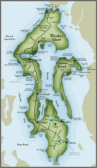 Whidbey Island real estate map